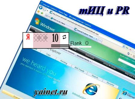 тИЦ и PR в Internet Explorer